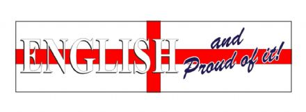 """English and Proud Of It"" XL Size Lorry Sticker"